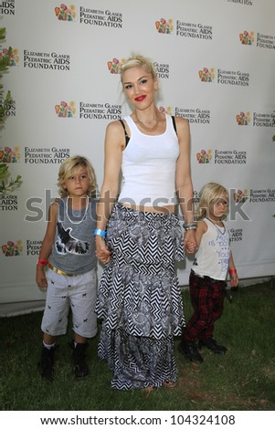 LOS ANGELES, CA - JUNE 3: Gwen Stefani, sons Kingston, Zuma at 'A Time for Heroes' Celebrity Picnic Benefitting the Elizabeth Glaser Pediatric AIDS Foundation on June 3, 2012 in Los Angeles, California