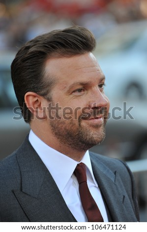 "LOS ANGELES, CA - JUNE 30, 2011: Jason Sudeikis at the Los Angeles premiere of his new movie ""Horrible Bosses"" at Grauman's Chinese Theatre, Hollywood. June 30, 2011  Los Angeles, CA"