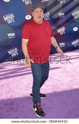 "LOS ANGELES, CA - JUNE 9, 2015: Jeff Garlin at the Los Angeles premiere of Disney-Pixar's ""Inside Out"" at the El Capitan Theatre, Hollywood."