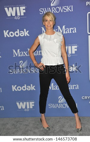 LOS ANGELES, CA - JUNE 12, 2013: Jenna Elfman at the Women in Film 2013 Crystal + Lucy Awards at the Beverly Hilton Hotel.