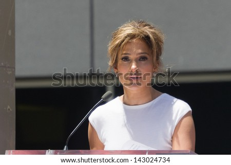 LOS ANGELES, CA - JUNE 20: Jennifer Lopez at the Hollywood Walk of Fame Ceremony for Jennifer Lopez at  Hollywood on June 20, 2013 in Los Angeles, CA