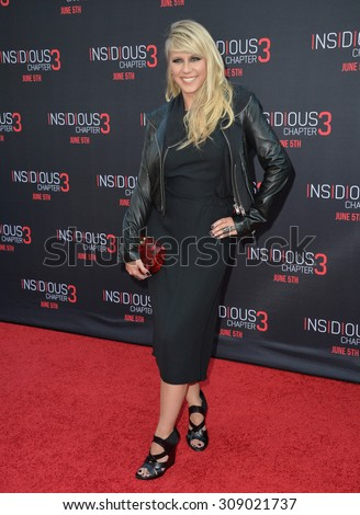 LOS ANGELES, CA - JUNE 5, 2015: Jodie Sweetin at the world premiere of Insidious Chapter 3 at the TCL Chinese Theatre, Hollywood.