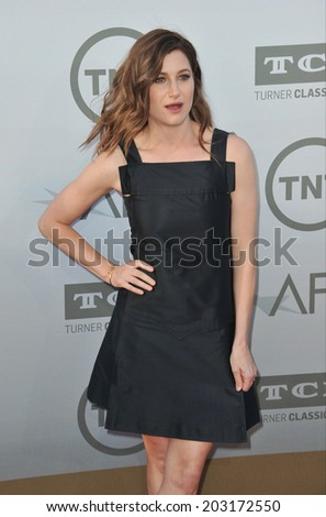 LOS ANGELES, CA - JUNE 5, 2014: Kathryn Hahn at the 2014 American Film Institute's Life Achievement Awards honoring Jane Fonda, at the Dolby Theatre, Hollywood.