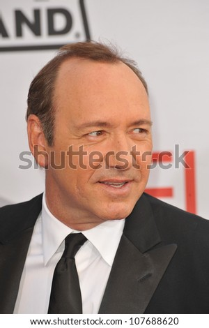 LOS ANGELES, CA - JUNE 10, 2010: Kevin Spacey at the 2010 AFI Life achievement Award Gala, honoring director Mike Nichols, at Sony Studios, Culver City, CA. - stock photo