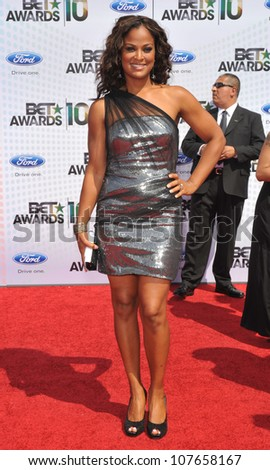 LOS ANGELES, CA - JUNE 27, 2010: Laila Ali at the 2010 BET Awards at the Shrine Auditorium