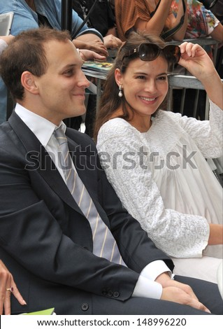 LOS ANGELES, CA - JUNE 24, 2013: Lord Frederick Windsor & actress wife Sophie Winkleman on Hollywood Boulevard where Jerry Bruckheimer was honored with the 2,501st star on the Hollywood Walk of Fame  - stock photo