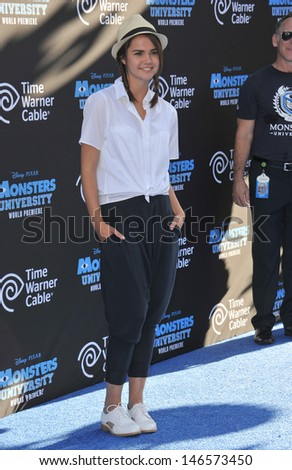 "LOS ANGELES, CA - JUNE 17, 2013: Maia Mitchell at the world premiere of ""Monsters University"" at the El Capitan Theatre, Hollywood.  - stock photo"
