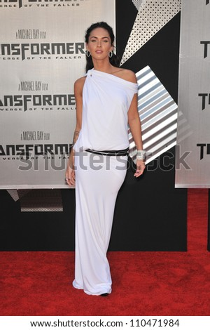 "LOS ANGELES, CA - JUNE 22, 2009: Megan Fox at the Los Angeles premiere of her new movie ""Transformers: Revenge of the Fallen"" at the Mann Village Theatre, Westwood. - stock photo"