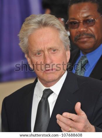 LOS ANGELES, CA - JUNE 10, 2010: Michael Douglas at the 2010 AFI Life achievement Award Gala, honoring director Mike Nichols, at Sony Studios, Culver City, CA. - stock photo