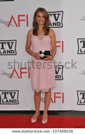 LOS ANGELES, CA - JUNE 10, 2010: Natalie Portman at the 2010 AFI Life achievement Award Gala, honoring director Mike Nichols, at Sony Studios, Culver City, CA. - stock photo