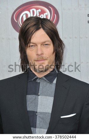 LOS ANGELES, CA - JUNE 7, 2014: Norman Reedus at Spike TV's 2014 Guys Choice Awards at Sony Studios, Culver City. - stock photo