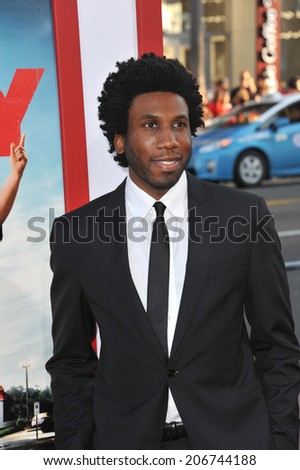 "LOS ANGELES, CA - JUNE 30, 2014: Nyambi Nyambi at the premiere of ""Tammy"" at the TCL Chinese Theatre, Hollywood.  - stock photo"