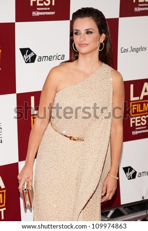 LOS ANGELES, CA - JUNE 14: Penelope Cruz arrives at the Los Angeles Film Festival premiere of 'To Rome With Love' at Regal Cinemas L.A. LIVE Stadium 14 on June 14, 2012 in Los Angeles, California.