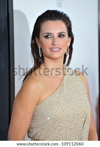 "LOS ANGELES, CA - JUNE 15, 2012: Penelope Cruz at the LA Film Festival premiere of her movie ""To Rome With Love"" at the Regal Cinemas LA Live."