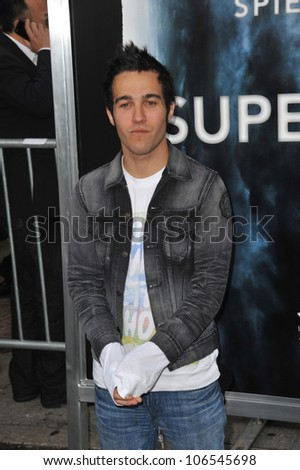 "LOS ANGELES, CA - JUNE 8, 2011: Pete Wentz at the Los Angeles premiere of ""Super 8"" at the Regency Village Theatre, Westwood. June 8, 2011  Los Angeles, CA"