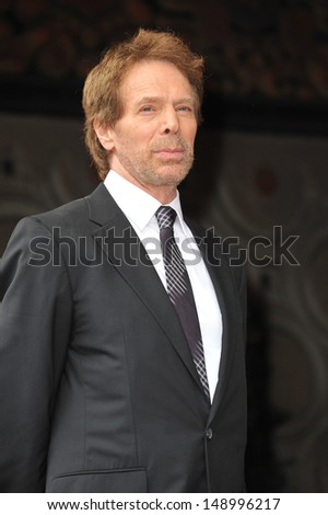LOS ANGELES, CA - JUNE 24, 2013: Producer Jerry Bruckheimer on Hollywood Boulevard where Jerry Bruckheimer was honored with the 2,501st star on the Hollywood Walk of Fame.