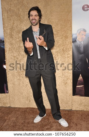 "LOS ANGELES, CA - JUNE 16, 2010: Rhys Coiro at the season seven premiere of the TV series ""Entourage"" at Paramount Studios, Hollywood."
