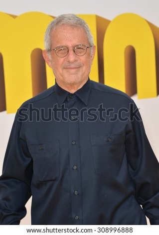 "LOS ANGELES, CA - JUNE 27, 2015: Ron Meyer, head of Universal Studios, at the Los Angeles premiere of ""Minions"" at the Shrine Auditorium.  - stock photo"