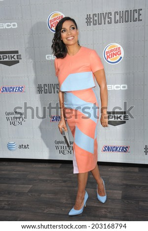LOS ANGELES, CA - JUNE 7, 2014: Rosario Dawson at Spike TV's 2014 Guys Choice Awards at Sony Studios, Culver City.