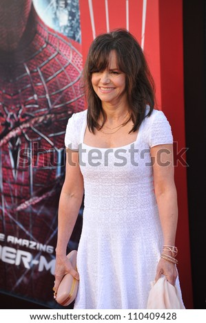 "LOS ANGELES, CA - JUNE 29, 2012: Sally Field at the world premiere of her movie ""The Amazing Spider-Man"" at Regency Village Theatre, Westwood."