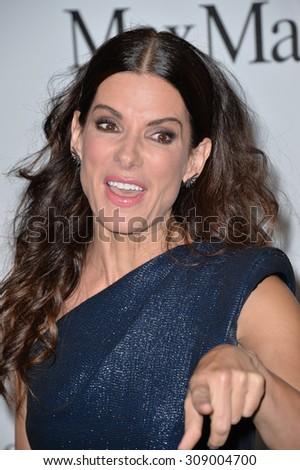 LOS ANGELES, CA - JUNE 16, 2015: Sandra Bullock at the Women in Film 2015 Crystal + Lucy Awards at the Hyatt Regency Century Plaza Hotel.   - stock photo