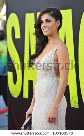 "LOS ANGELES, CA - JUNE 26, 2012: Sandra Echeverria at the world premiere of her movie ""Savages"" at Mann Village Theatre, Westwood."