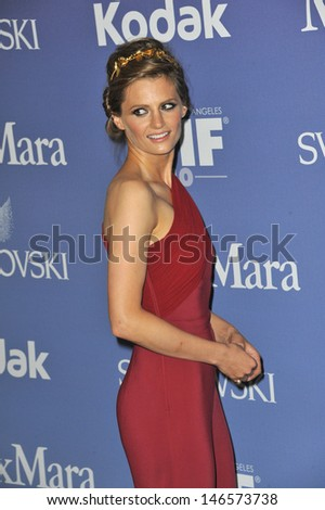 LOS ANGELES, CA - JUNE 12, 2013: Stana Katic at the Women in Film 2013 Crystal + Lucy Awards at the Beverly Hilton Hotel.