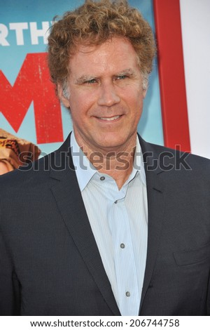 "LOS ANGELES, CA - JUNE 30, 2014: Will Ferrell at the premiere of ""Tammy"" at the TCL Chinese Theatre, Hollywood.  - stock photo"