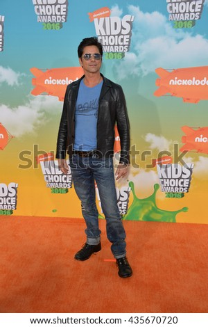 LOS ANGELES, CA - MARCH 12, 2016: Actor John Stamos at the 2016 Kids' Choice Awards at The Forum, Los Angeles.