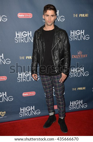 "LOS ANGELES, CA - MARCH 29, 2016: Actor Max Ehrich at the premiere for ""High Strung"" at the TCL Chinese 6 Theatres, Hollywood.
