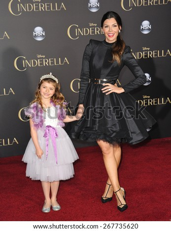 "LOS ANGELES, CA - MARCH 1, 2015: Ali Landry at the world premiere of ""Cinderella"" at the El Capitan Theatre, Hollywood.  - stock photo"