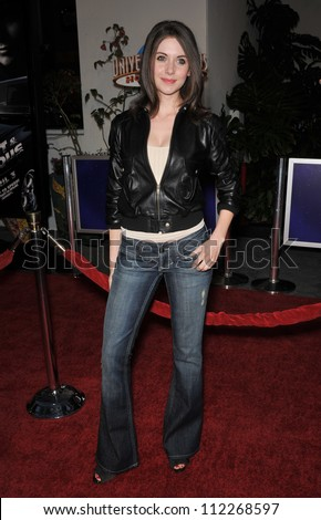 "LOS ANGELES, CA - MARCH 12, 2009: Alison Brie at the world premiere of ""Fast & Furious"" at the Gibson Amphitheatre, Universal Studios, Hollywood."