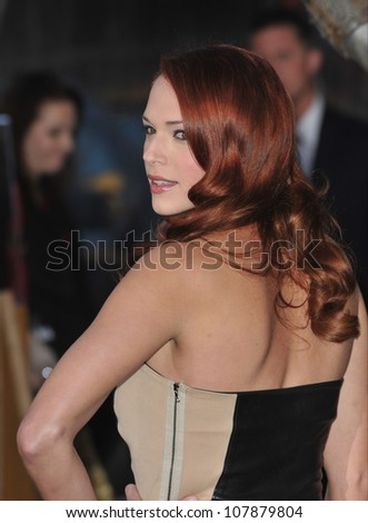 "LOS ANGELES, CA - MARCH 31, 2010: Amanda Righetti at the Los Angeles premiere of ""Clash of the Titans"" at Grauman's Chinese Theatre, Hollywood."