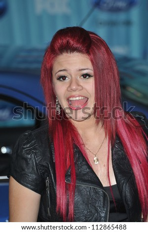 LOS ANGELES, CA - MARCH 5, 2009: American Idol finalist Allison Iraheta at the American Idol Final 13 Party at Area Nightclub, West Hollywood.