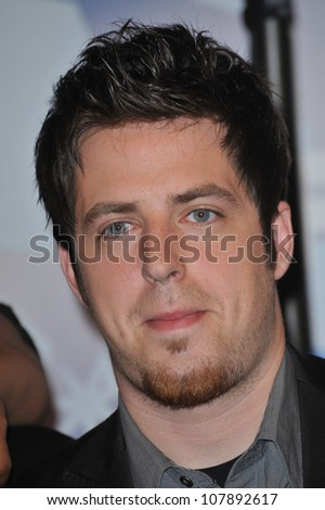 LOS ANGELES, CA - MARCH 11, 2010: American Idol finalist Lee Dewyze at the party for the American Idol Final 12 at Industry, Los Angeles.