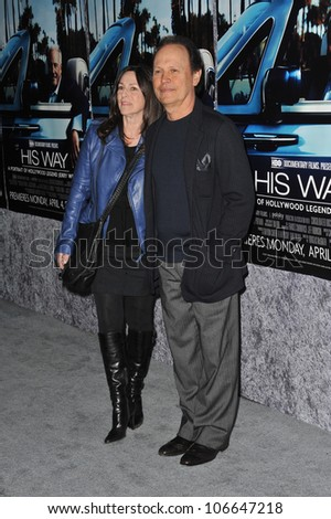 "LOS ANGELES, CA - MARCH 22, 2011: Billy Crystal at the premiere of ""His Way"", about  Jerry Weintraub at Paramount Studios, Hollywood. March 22, 2011  Los Angeles, CA"