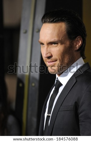 "LOS ANGELES, CA - MARCH 4, 2014: Callan Mulvey at the premiere of his movie ""300: Rise of an Empire"" at the TCL Chinese Theatre, Hollywood."