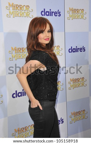 "LOS ANGELES, CA - MARCH 17, 2012: Debby Ryan at the world premiere of ""Mirror Mirror"" at Grauman's Chinese Theatre, Hollywood. March 17, 2012  Los Angeles, CA - stock photo"