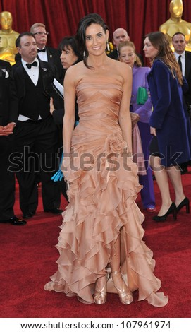 LOS ANGELES, CA - MARCH 7, 2010: Demi Moore at the 82nd Annual Academy Awards at the Kodak Theatre, Hollywood. - stock photo