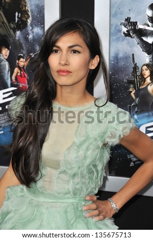 "LOS ANGELES, CA - MARCH 28, 2013: Elodie Yung at the Los Angeles premiere of her movie ""G.I. Joe: Retaliation"" at the Chinese Theatre, Hollywood."