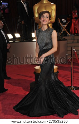 LOS ANGELES, CA - MARCH 2, 2014: Emma Watson  at the 86th Annual Academy Awards at the Hollywood & Highland Theatre, Hollywood.  - stock photo