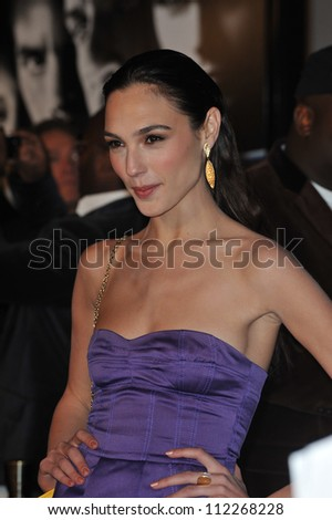 "LOS ANGELES, CA - MARCH 12, 2009: Gal Gadot at the world premiere of her new movie ""Fast & Furious"" at the Gibson Amphitheatre, Universal Studios, Hollywood. - stock photo"