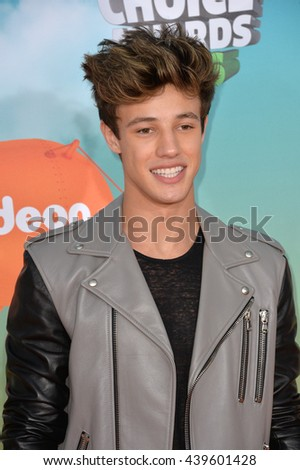 LOS ANGELES, CA - MARCH 12, 2016: Internet personality Cameron Dallas at the 2016 Kids' Choice Awards at The Forum, Los Angeles.
