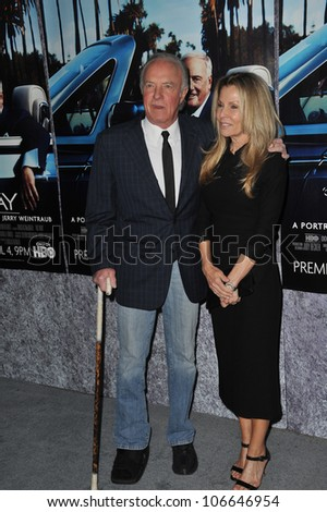 "LOS ANGELES, CA - MARCH 22, 2011: James Caan & wife at the premiere of ""His Way"", about  Jerry Weintraub at Paramount Studios, Hollywood. March 22, 2011  Los Angeles, CA"