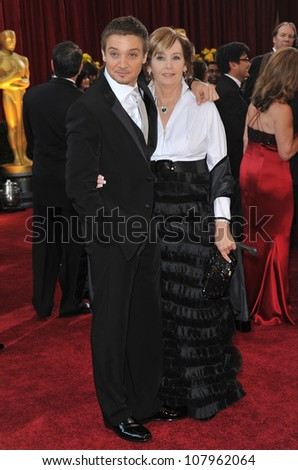 LOS ANGELES, CA - MARCH 7, 2010: Jeremy Renner & Valerie Cearley at the 82nd Annual Academy Awards at the Kodak Theatre, Hollywood.