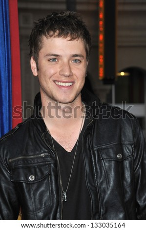 """LOS ANGELES, CA - MARCH 11, 2013: Jeremy Sumpter at the world premiere of """"The Incredible Burt Wonderstone"""" at the Chinese Theatre, Hollywood. - stock photo"""