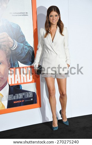 "LOS ANGELES, CA - MARCH 25, 2015: Kate Walsh at the Los Angeles premiere of  ""Get Hard"" at the TCL Chinese Theatre, Hollywood.  - stock photo"