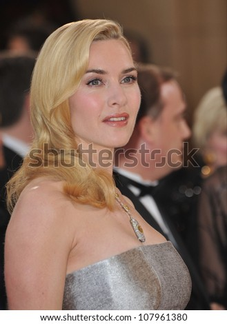 LOS ANGELES, CA - MARCH 7, 2010: Kate Winslet at the 82nd Annual Academy Awards at the Kodak Theatre, Hollywood.