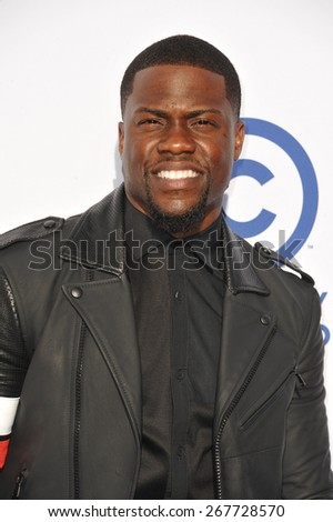 LOS ANGELES, CA - MARCH 14, 2015: Kevin Hart at the Comedy Central Roast of Justin Bieber at Sony Studios, Culver City.  - stock photo