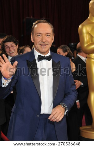 LOS ANGELES, CA - MARCH 2, 2014: Kevin Spacey at the 86th Annual Academy Awards at the Hollywood & Highland Theatre, Hollywood.